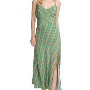 ASTR Jessi Striped Maxi Dress Emerald Green Stripe